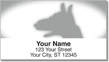 Hand Shadow Address Labels