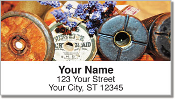 Antique Spool Address Labels