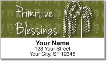Primitive Cutout Address Labels