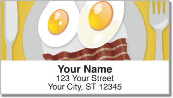 Food Face Address Labels