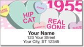 Candy Heart Address Labels