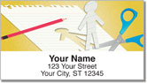 Paper Cutout Address Labels