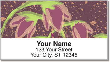 Droopy Tulip Address Labels