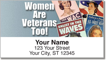 Woman Veteran Address Labels