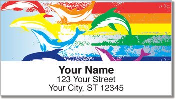 Rainbow Dolphin Address Labels