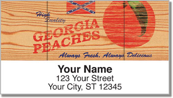Wooden Crate Advertising Address Labels