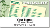 Herb Recipe Address Labels