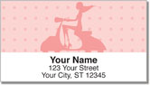 Scooter Girl Address Labels