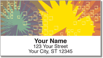 Square & Sunburst Address Labels