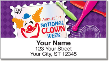 National Clown Week Address Labels