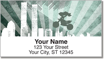 Extreme Motorcycle Address Labels