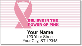 Power of Pink Address Labels