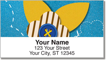 Button Flower Address Labels
