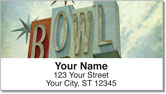 Retro Sign Address Labels