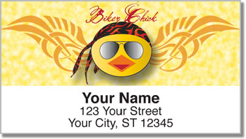 Biker Chick Address Labels
