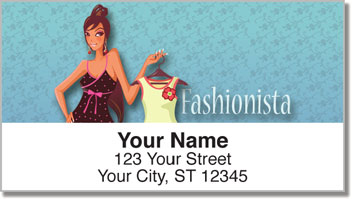 Fabulous Fashionista Address Labels