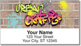 Urban Graffiti Address Labels