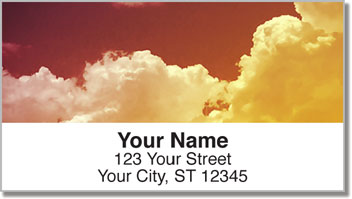 Hot Air Balloon View Address Labels