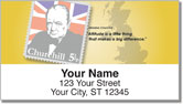 Winston Churchill Address Labels