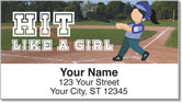 Softball Address Labels