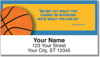 John Wooden Address Labels