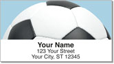 Classic Soccer Ball Address Labels