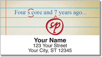 Proofreader Address Labels