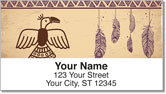 Native American Bird Symbol Address Labels