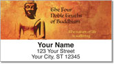 Four Noble Truths Address Labels