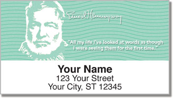 Ernest Hemingway Address Labels