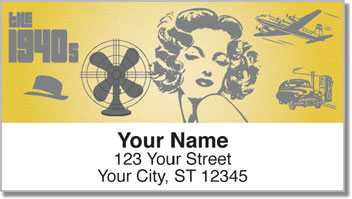 The 1940's Address Labels