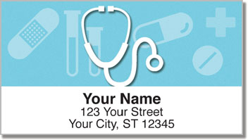 Medical Icon Address Labels