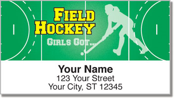 Field Hockey Address Labels