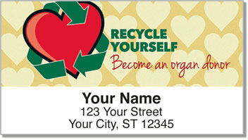 Organ Donation Address Labels