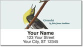 Audubon Bird Address Labels