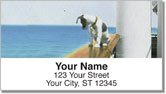 Vintage Dog Painting Address Labels