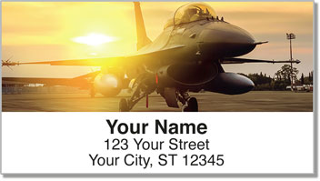 F-16 Fighter Jet Address Labels