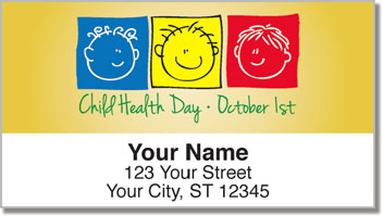 Child Health Day Address Labels
