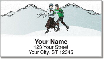 Vintage Winter Address Labels