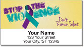 Domestic Violence Awareness Address Labels
