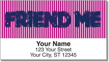 Social Media Address Labels