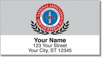 Barber Shop Address Labels