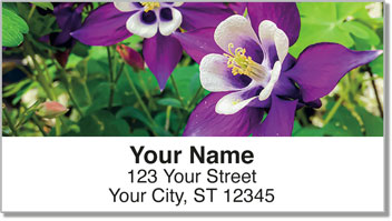 Columbine Flower Address Labels