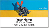 Abstract Animal Address Labels