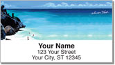 Beach Scene Address Labels