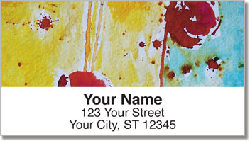 Dots and Drips Address Labels