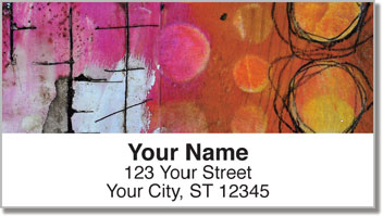 Encaustic Address Labels