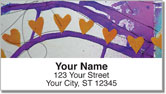 Dina Wakley Heart Address Labels