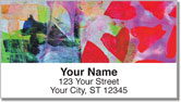 Red Heart Address Labels
