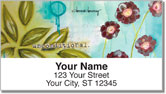 Floral Set 1 Address Labels